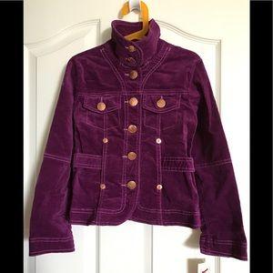 🧥YES girl's purple velvet utility jacket NWT